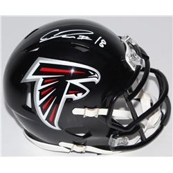 Calvin Ridley Signed Falcons Mini Speed Helmet (Radtke COA)