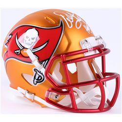 """Warren Sapp Signed Buccaneers Blaze Speed Mini-Helmet Inscribed """"HOF '13"""" (JSA COA)"""