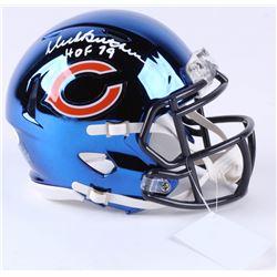 "Dick Butkus Signed Bears Chrome Speed Mini-Helmet Inscribed ""HOF 79"" (JSA COA)"