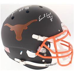 Earl Campbell  Ricky Williams Signed Texas Longhorns Authentic On-Field Full-Size Custom Matt Black