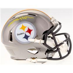Antonio Brown Signed Steelers Chrome Speed Mini Helmet (JSA COA)