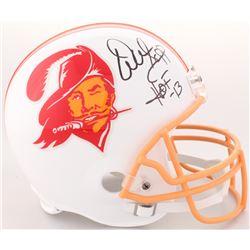 """Warren Sapp Signed Buccanneers Throwback Full-Size Helmet Inscribed """"HOF -13"""" (JSA COA)"""