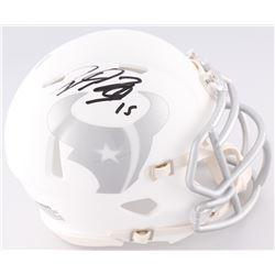 Will Fuller Signed Texans Custom Matte White ICE Speed Mini Helmet (JSA COA)