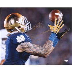"""Will Fuller Signed Notre Dame Fighting Irish 16x20 Photo Inscribed """"Play Like a Champion Today"""" (JSA"""