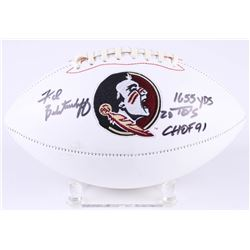 "Fred Biletnikoff Signed Florida State Seminoles Logo Football Inscribed ""1655 yds"", ""20TDs""  ""CHOF 9"