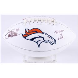 "Terrell Davis Signed Broncos Super Bowl XXXIII Logo Football Inscribed ""Bronco 4 Life"" (Radtke COA)"