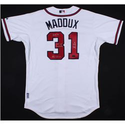 "Greg Maddux Signed Braves Jersey Inscribed ""HOF 14"", ""95 WS Champs""  ""92-95 Cy"" (Radtke COA)"