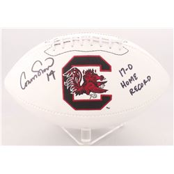 "Connor Shaw Signed South Carolina Gamecocks Logo Football Inscribed ""17-0 Home Record"" (Radtke COA)"