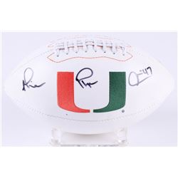 "Michael Irvin Signed  Miami Hurricanes Logo Football Inscribed ""Playmaker"" (Radtke Hologram)"