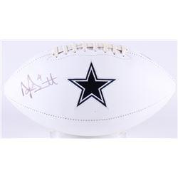 Dak Prescott Signed Cowboys Logo Football (Radtke COA  Prescott Hologram)