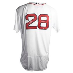 """J.D. Martinez Signed Red Sox Jersey Inscribed """"2018 WS Champs"""" (Steiner COA)"""