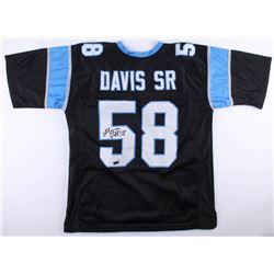 Thomas Davis Sr. Signed Panthers Jersey (Radtke COA)