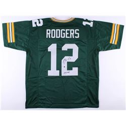 """Aaron Rodgers Signed Green Bay Packers Jersey Inscribed """"XLV MVP"""" (Steiner Hologram)"""