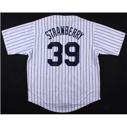 "Darryl Strawberry Signed Yankees Jersey Inscribed ""3x World Champs"" (Radtke COA)"