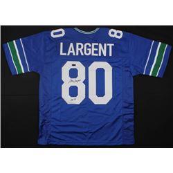 "Steve Largent Signed Seahawks Jersey Inscribed ""HOF '95"" (Radtke COA)"
