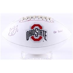 "Marshon Lattimore Signed Ohio State Buckeyes Logo Football Inscribed ""GO BUCKS!"" (Radtke COA  Lattim"