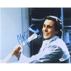 "Christian Bale Signed ""American Psycho"" 11x14 Photo (PSA COA)"