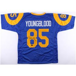 "Jack Youngblood Signed Rams Jersey Inscribed ""HOF 2001"" (Radtke COA)"