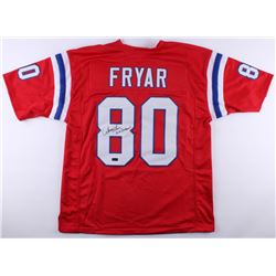"Irving Fryar Signed Patriots Jersey Inscribed ""5x Pro Bowl"" (Radtke COA)"