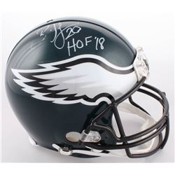 "Brian Dawkins Signed Eagles Authentic On-Field Full-Size Helmet Inscribed ""HOF 18"" (JSA COA)"