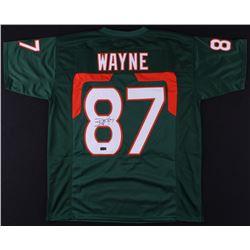 Reggie Wayne Signed Miami Hurricanes Jersey (Radtke COA)