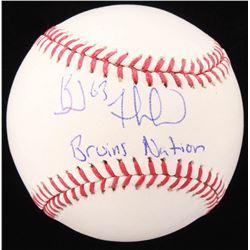 "Brad Marchand Signed OML Baseball Inscribed ""Bruins Nation"" (JSA COA)"