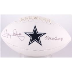 """Tony Dorsett Signed Cowboys Logo Football Inscribed """"SB XII Champs"""" (Radtke COA)"""