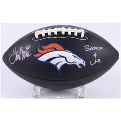 "Terrell Davis Signed Broncos Logo Football Inscribed ""Bronco 4 Life"" (Radtke COA)"