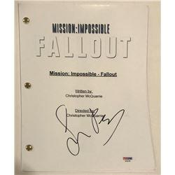 "Simon Pegg Signed ""Mission: Impossible - Fallout"" Full Movie Script (PSA COA)"