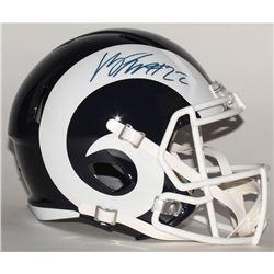 Marcus Peters Signed Rams Full-Size Speed Helmet (JSA COA)