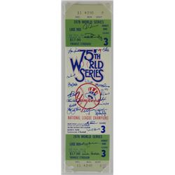 1978 Yankees Game 3 World Series Champions Jumbo Ticket Signed by (23) with Graig Nettles, Bucky Den