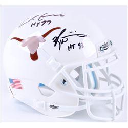 "Earl Campbell  Ricky Williams Signed Texas Longhorns Mini-Helmet Inscribed ""HT 77""  ""HT 98"" (JSA COA"
