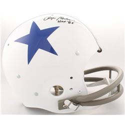 "Roger Staubach Signed Cowboys Full-Size Throwback Suspension Helmet Inscribed ""HOF '85"" (JSA COA)"
