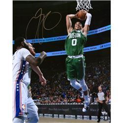 "Jayson Tatum Signed Celtics ""Dunking"" 16x20 Photo (Fanatics Hologram)"