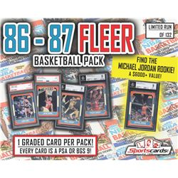 1986 - 87 Fleer Basketball PSA or BGS 9 Mystery Pack! ALL GRADED MINT 9!