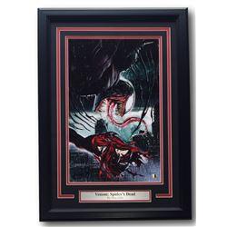 "Greg Horn Signed ""Venom: Spidey's Dead"" 17x25 Custom Framed Print Display (SI COA)"