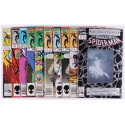 """Lot of (10) 1986-1992 Marvel """"The Amazing Spider-Man"""" Comic Books with #280, #282, #283"""