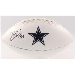 Zack Martin Signed Cowboys Logo Football (JSA COA)