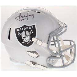 Howie Long Signed Raiders Full-Size Speed Helmet (JSA COA)
