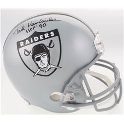 "Ted Hendricks Signed Raiders Full-Size Throwback Helmet Inscribed ""HOF '90"" (JSA COA)"