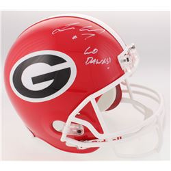 "Lorenzo Carter Signed Georgia Bulldogs Full-Size Helmet Inscribed ""Go Dawgs!"" (Radtke COA)"