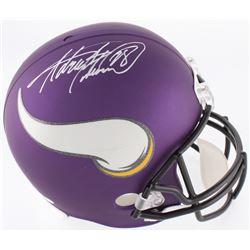 Adrian Peterson Signed Vikings Custom Matte Purple Full-Size Helmet (JSA COA  Fanatics Hologram)