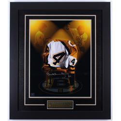 Bobby Orr Signed Bruins 25.5x29.5 Custom Framed Photo Display (Great North Road COA)