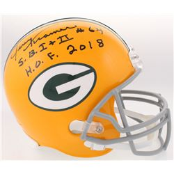 "Jerry Kramer Signed Packers Full-Size Helmet Inscribed ""S.B. I + II""  ""H.O.F. 2018"" (Radtke COA)"