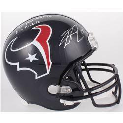 "Lamar Miller Signed Texans Full-Size Helmet Inscribed ""97 Yard MNF TD Run 11.26.18"" (JSA COA)"