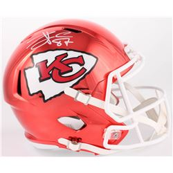 Travis Kelce Signed Chiefs Full-Size Chrome Speed Helmet (Beckett COA)