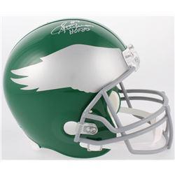 """Sonny Jurgensen Signed Eagles Full-Size Helmet Inscribed """"HOF 83"""" (JSA COA)"""