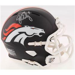 John Elway Signed Broncos Matte Black Speed Mini-Helmet (JSA COA)