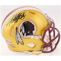 Adrian Peterson Signed Redskins Blaze Speed Mini Helmet (Beckett COA)