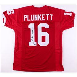 "Jim Plunkett Signed Stanford Cardinal Jersey ""Heisman 1970"" (JSA COA  Plunkett Hologram)"